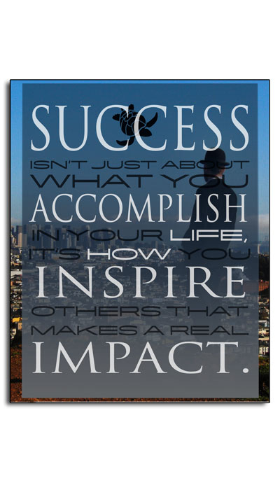 """Success isnt just about what you accomplish in your life,"