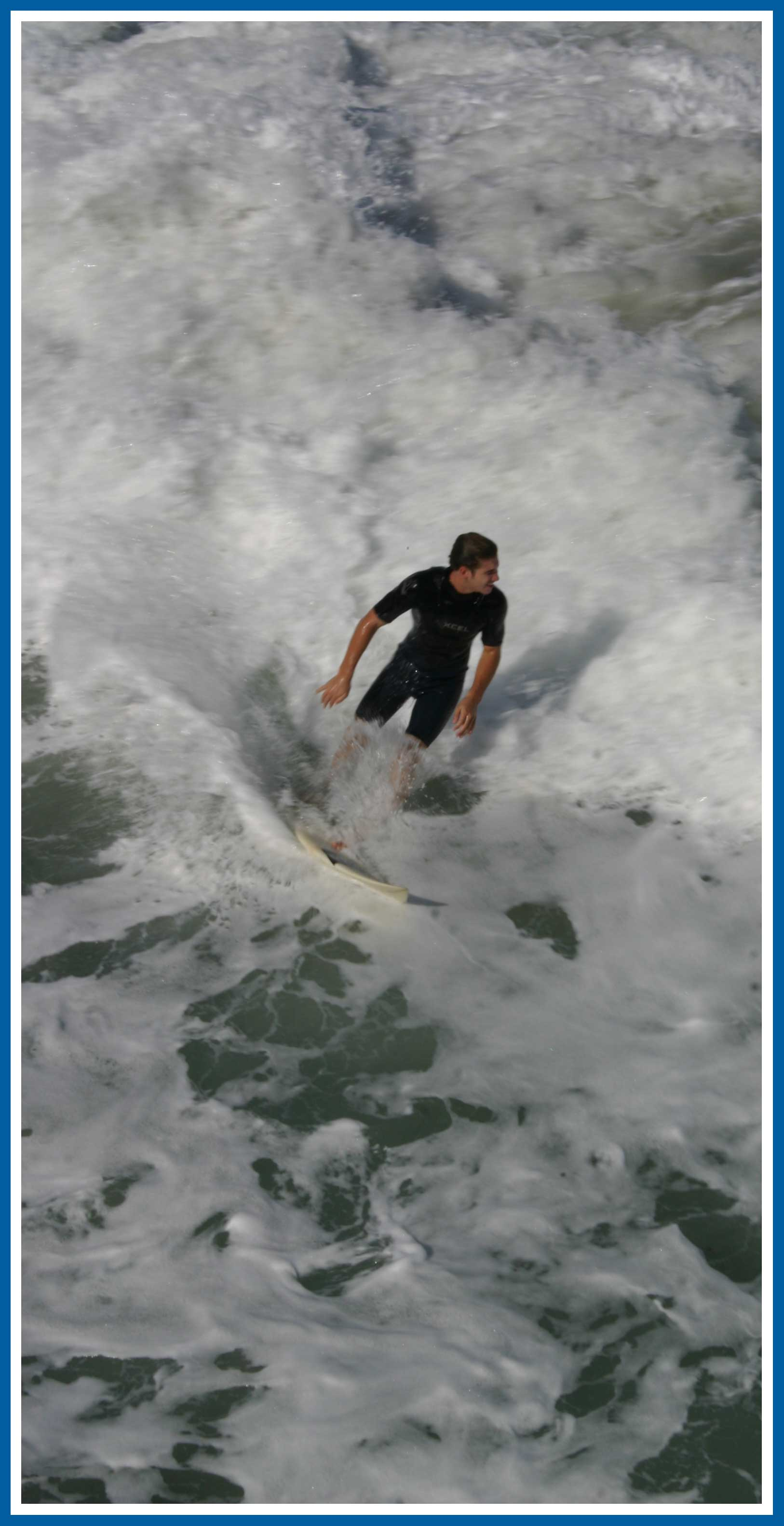 Juno Beach Pier Surfing in January