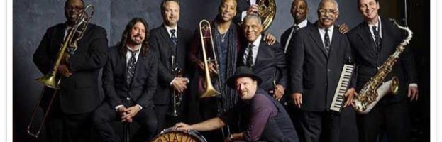 Dave Grohl making Elevator Music with the Preservation Hall Band